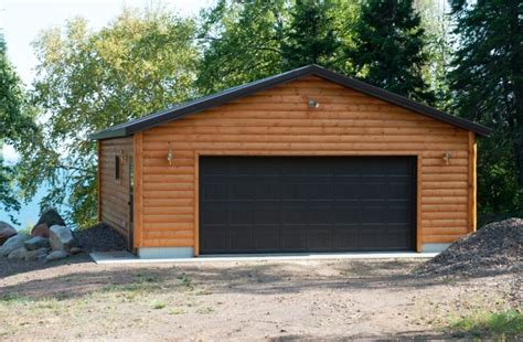 2 car garage lakeside log 2 car garage economy garages usa inc