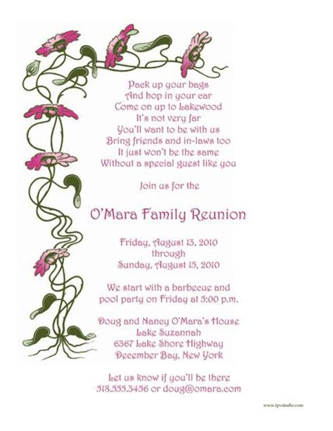 family reunion welcome letter template family reunion invitations wording family reunion