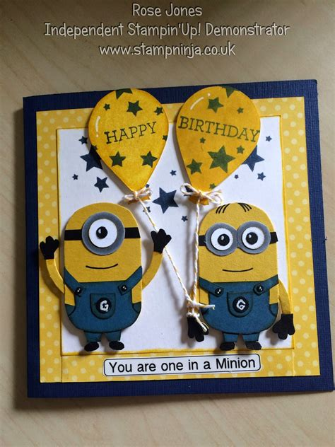 how to make a minion card st minions birthday card