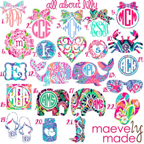 monogram ideas all about lilly monogram personalized design by maevelymade