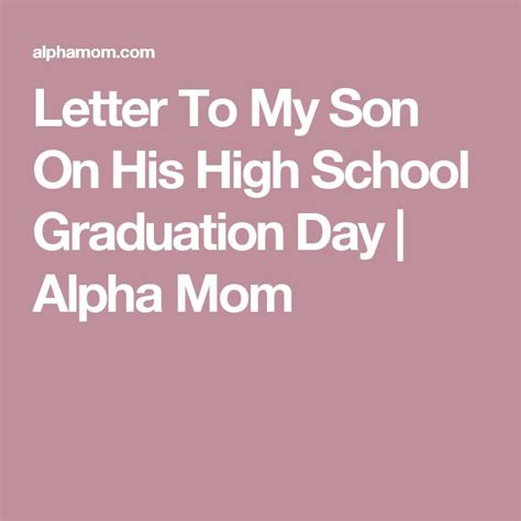 College Dropout Letter letter to my on his high school graduation day alpha