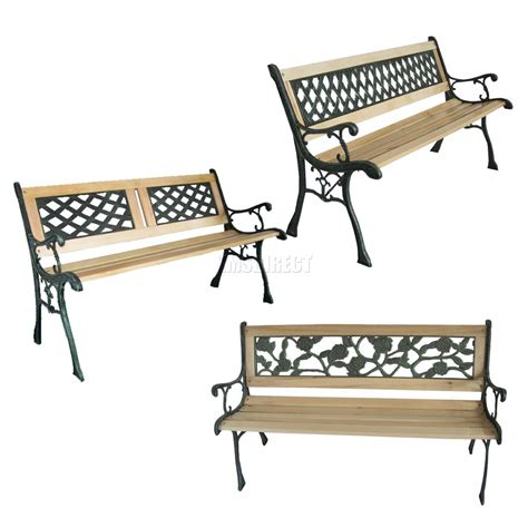 cast iron benches outdoor new 3 seater outdoor wooden garden bench with cast iron