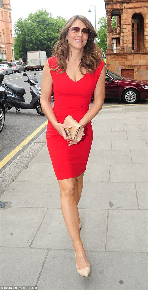 Liz Hurley Dumped For The Second Time This Year by Elizabeth Hurley Defies Age At V A Shoes Launch On