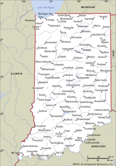 indiana road map with cities map of indiana