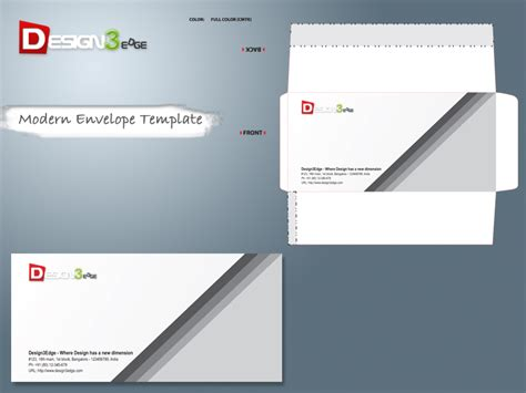 modern envelope template design3edge com