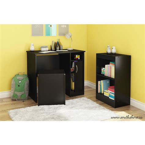 desk and bookcase set south shore freeport desk storage bench and bookcase set