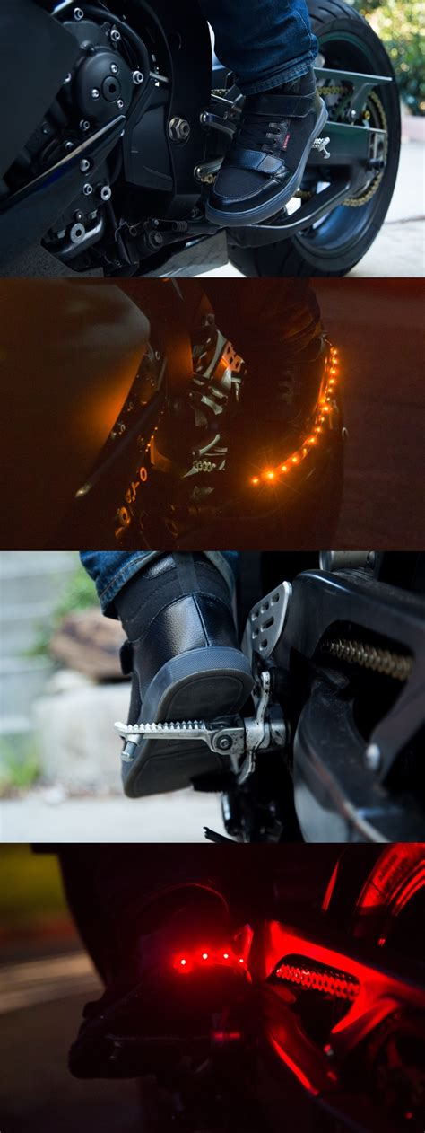 cool motorcycle shoes cool gear motorcycle shoes with built in brake lights