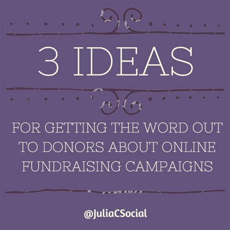 Getting The Word Out by 3 Ideas For Getting The Word Out To Your Donors About