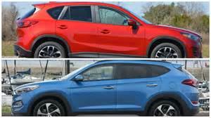 Mazda Vs Hyundai 2016 Hyundai Tucson Vs Mazda Cx 5