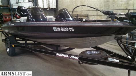 stratos bass boat accessories armslist for sale stratos 18 1 2 bass boat