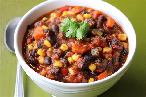vegetable black bean chili how to feed a loon