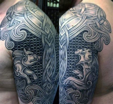 scottish half sleeve tattoo designs 40 celtic sleeve designs for manly ink ideas