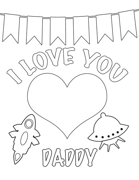 free i love dad coloring pages