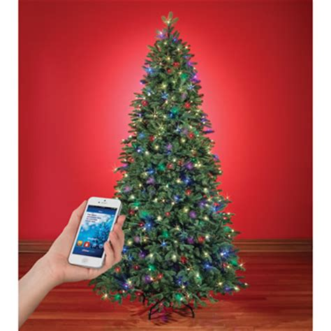 musical trees with synchronized lights the and light show wi fi tree hammacher