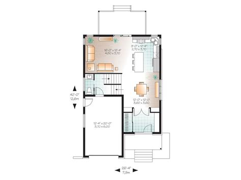 Modern House Plans 2 Story Contemporary Home Plan Fits Modern Narrow Floor Plans