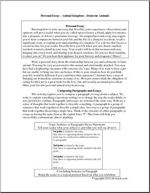 Essay Domestic Animals by Essay On Domestic Animals In Docoments Ojazlink