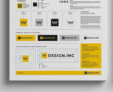 Brand Manual Template One By Egotype Graphicriver Brand Manual Template Free