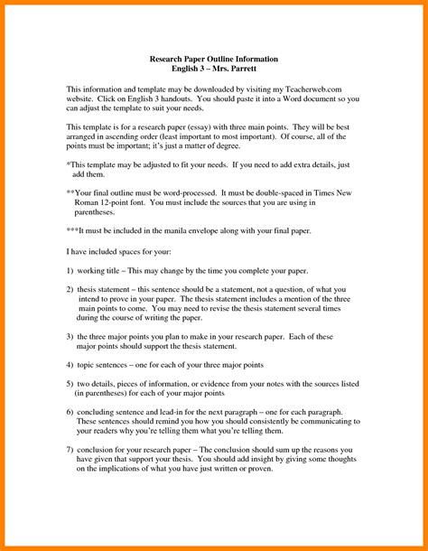 essay outline sle sle of an outline for an essay 28 images sle research