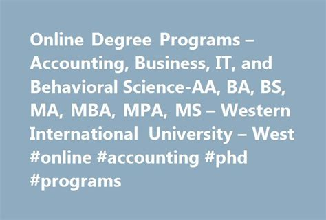 Accounting Mba Programs by 25 Best Ideas About International On