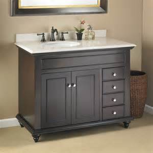 Vanity With Left Side Drawers by Mayfield 42 Quot Single Sink Vanity Mission Hills Furniture