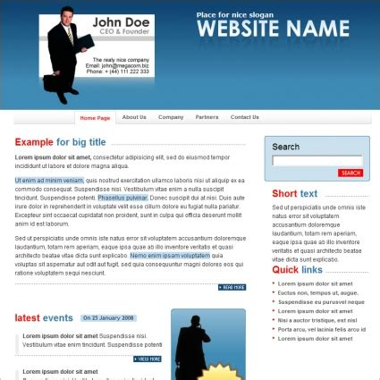 web templates for business free download business template free website templates in css html js