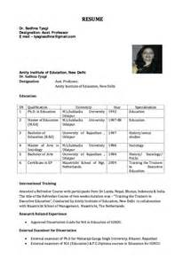 resume for assistant professor resumes design