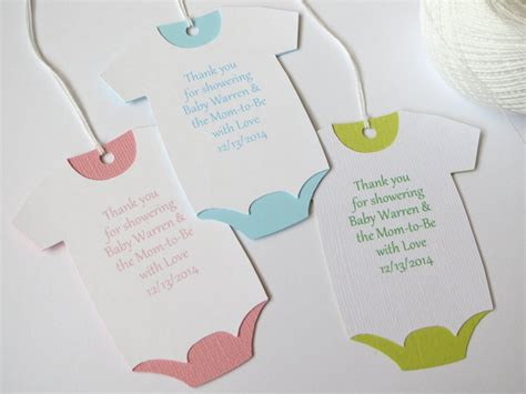 Baby Shower Favors Tags by Large Baby Shower Thank You Tags Custom Baby Shower Favor