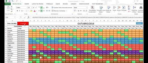 Calendario 8 Equipas Planilha De Escala De Trabalho Excel Autom 225 Tica