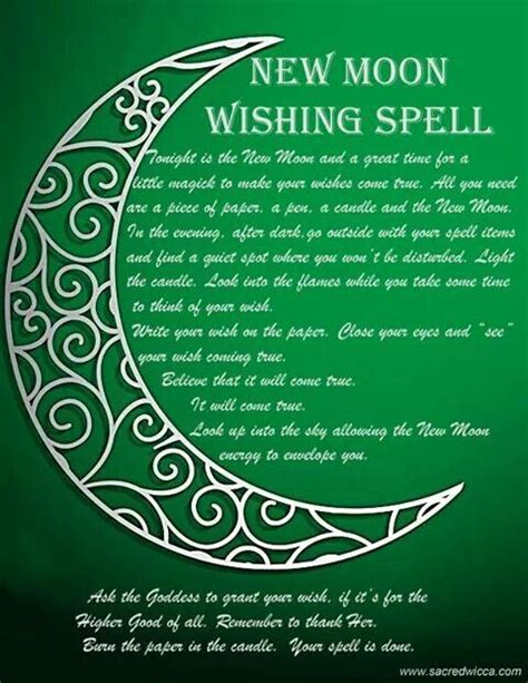 new moon spell pinned by the mystic s emporium on etsy everything new moon