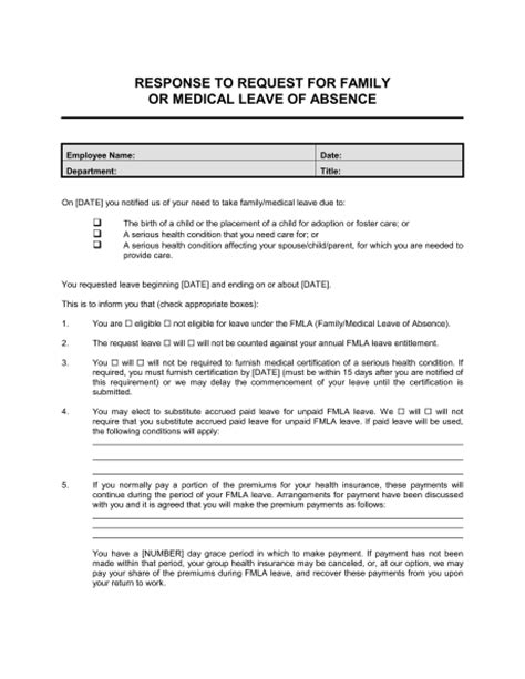 Explanation Letter Leave family leave act letter to employer docoments