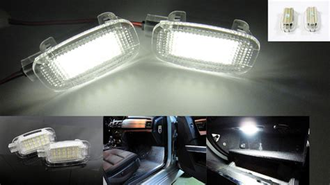 Led Trunk Light Gate 2x white led door light footwell light trunk light glove