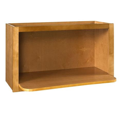 microwave in cabinet shelf home decorators collection lewiston assembled 30x18x18 in