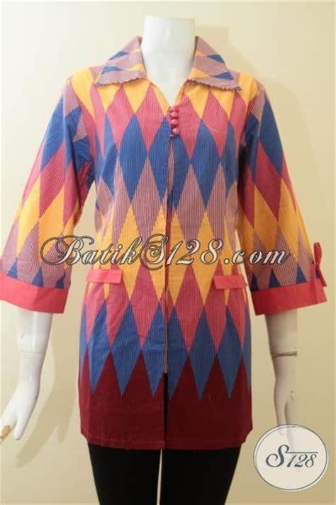Dress Wanita Bagus baju batik motif rangrang wanita kombinasi kain polos