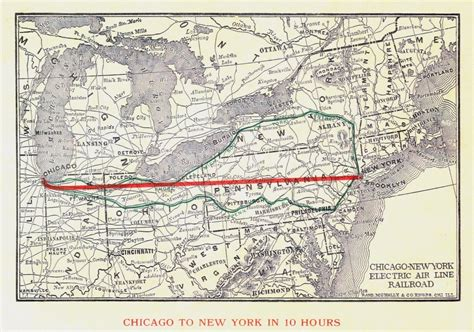 chicago new york map history
