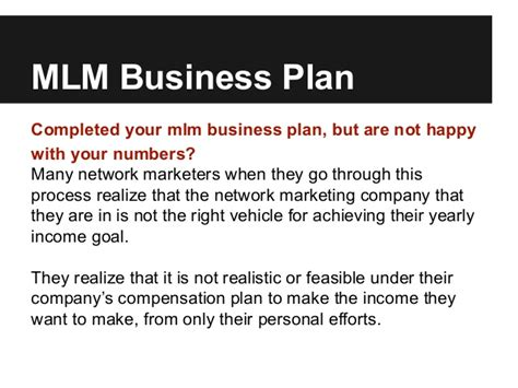 templates for mlm business simple mlm business plan for predictable mlm income