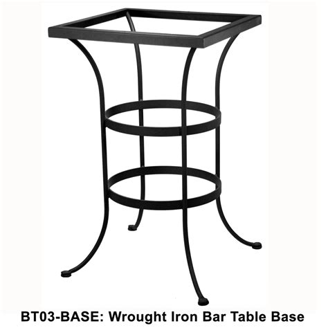 Iron Bistro Table Base Ow Standard Wrought Iron Counter Height Bistro Table Base Ct01 Base