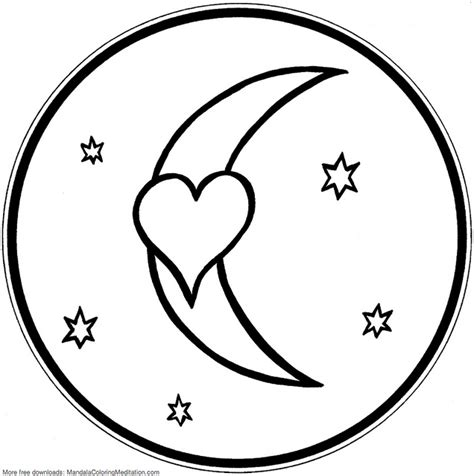 coloring page moon and stars 7 best images of large stars and moon coloring pages