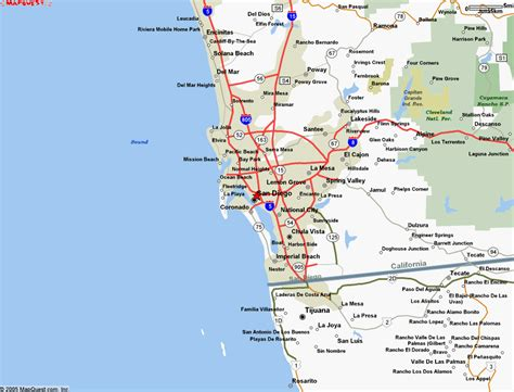 san diego map usa map of san diego california travelsmaps