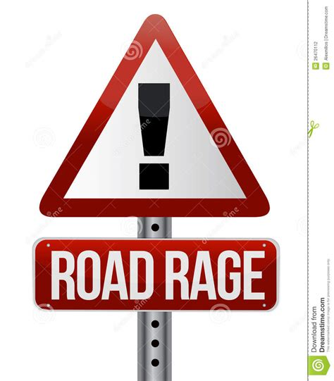 8 Critical Signs That You Road Rage by Road Traffic Sign With A Road Rage Stock Vector Image