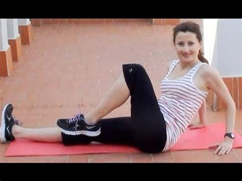 ejercicios  abdomen cintura  piernas adelgazar piernas barriga  cintura youtube