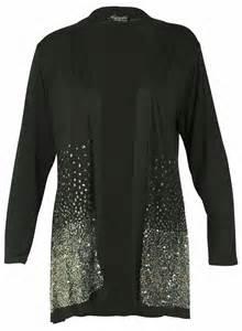 New Kardigan new sequin glitter cardigan womens sleeved open wrap top size 12 26 ebay