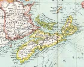 1894 german antique map of eastern canada and newfoundland
