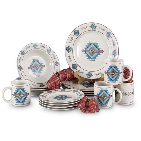 16 pc stoneware dinnerware set 98498 dinnerware