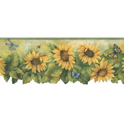 Sunflower Border Wallpaper