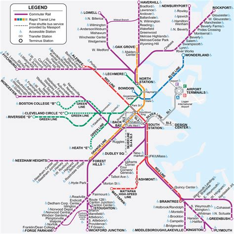 boston ma light  heavy rail systems