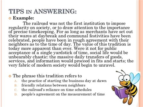 reading comprehension test exles how to answer reading comprehension test