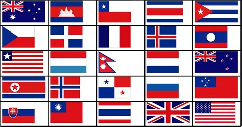 flags of the world red white blue horizontal red white and blue flags quiz by delgue