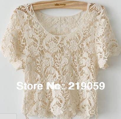Flower Crochet Top Blackwhitered sale summer lace t shirts vintage embroidery floral crochet tops black white jpg