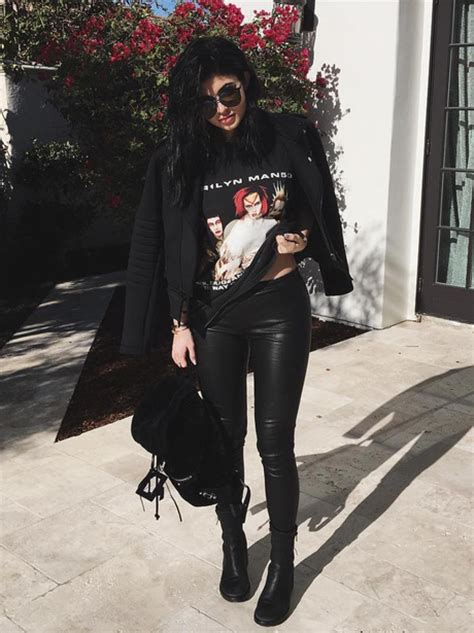 Kyle Blackred jenner kept things casual with a marilyn t