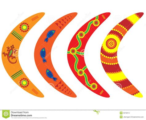 aboriginal boomerangs stock images image 5672614